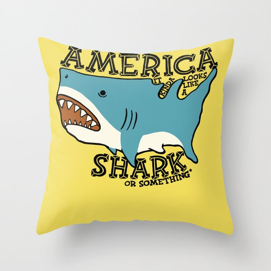 America…   it kinda looks like a shark or something Throw Pillow