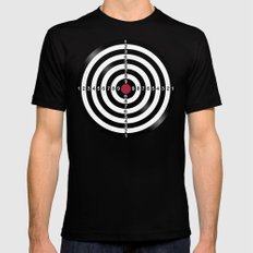 Dart Target Game Mens Fitted Tee Black SMALL