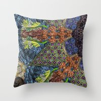 Psychedelic Botanical 6 Throw Pillow