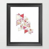 Geometric Mosaic Triangl… Framed Art Print