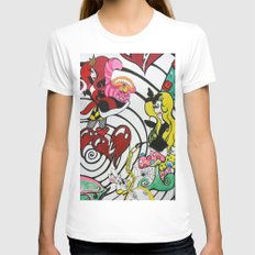Alice in The Vortex Womens Fitted Tee White SMALL