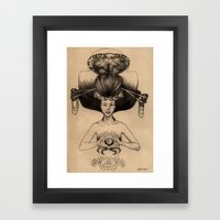 CANCER - Black and White Version Framed Art Print