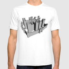 Castle White Mens Fitted Tee SMALL