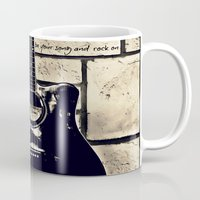 Be Your Song and Rock On in Black Mug
