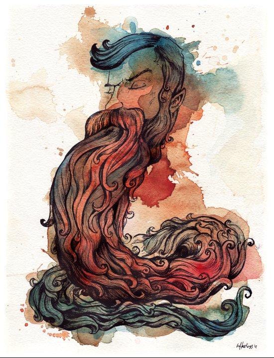 Bearded Serpent Art Print