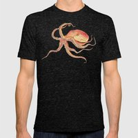 Octopus Blue Mens Fitted Tee Tri-Black SMALL