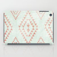mint & coral tribal pattern iPad Case