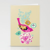 Birds and Blooms 1 Stationery Cards