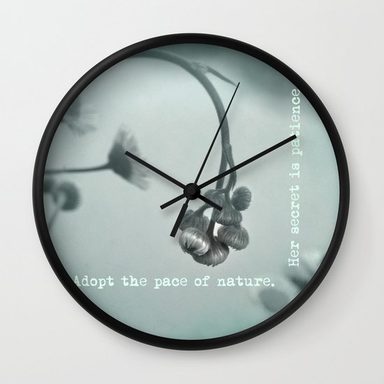 Patient Nature Wall Clock
