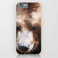 iPhone Cases featuring Bear // Gold by Amy Hamilton