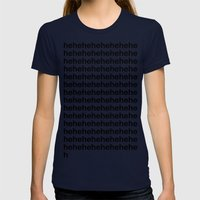 Heheheheh Womens Fitted Tee Navy SMALL