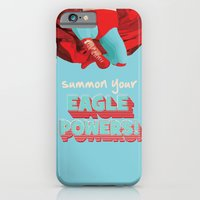 iPhone Cases featuring summon your eagle powers by studiomarshallarts