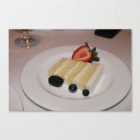 Slice of a Wedding Cake Canvas Print