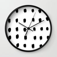 Jacques Pattern - Pure White Wall Clock