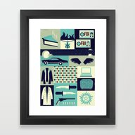 Framed Art Print featuring Carry On My Wayward Son by Risa Rodil
