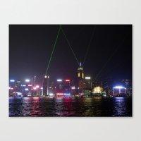 Hong Kong Laser Show Canvas Print