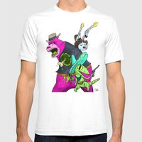 Floating BunnyHead Weste… Mens Fitted Tee White SMALL