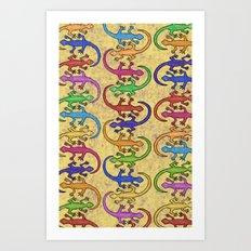 Lizards Art Print