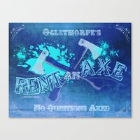 Axe Us About Our Deals! Canvas Print