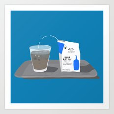 Blue Bottle Coffee Art Print