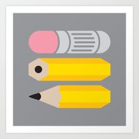 Deconstructed Pencil Art Print
