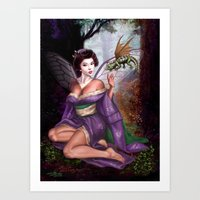 Geisha Fairy And Orson T… Art Print
