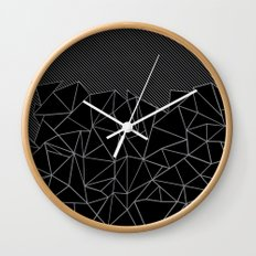 Ab Lines 45 Grey and Black Wall Clock