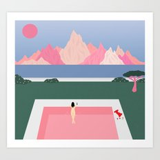 Poolside Views  Art Print