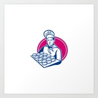 Baker Serving Tray Of Po… Art Print