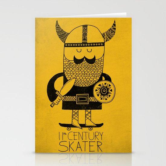 11th Century Skater Stationery Card