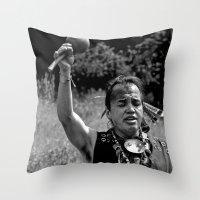 A Warrior's Song Throw Pillow