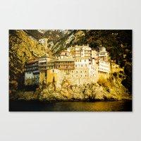 Grigoriou Monastery, Mou… Canvas Print
