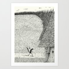 'The Field By The Forest' Art Print