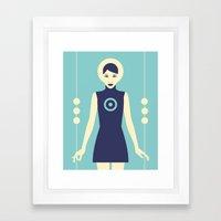 Isolde Blue Framed Art Print