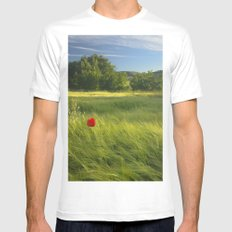 lonely poppies at the fields Mens Fitted Tee White SMALL