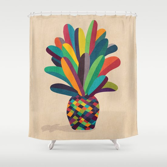 Flower Pot Shower Curtain
