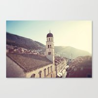 Belltower In Dubrovnik Canvas Print