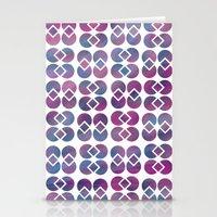 Broken Geometry 4 Stationery Cards