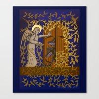 Angel At The Door Royal … Canvas Print