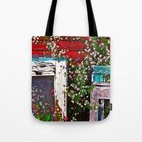 Window Flowers Tote Bag