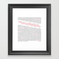 American Pie (all of it) Framed Art Print