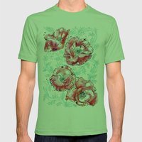 Poppies & Vines Mens Fitted Tee Grass SMALL