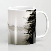 Misty Lake B&W Mug