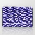 Herringbone – Navy & White iPad Case