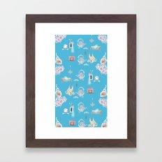 Blue Pattern Framed Art Print