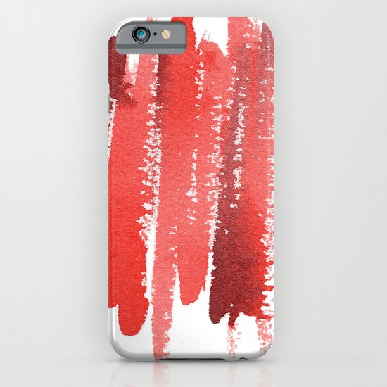 Red Strokes iPhone & iPod Case