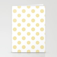 Polka Dots (Vanilla/White) Stationery Cards