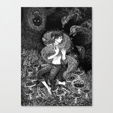 Magic fox Canvas Print