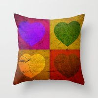 FOUR HEARTS FOR VALENTIN… Throw Pillow