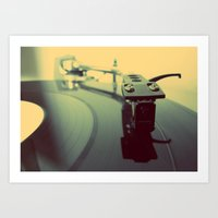 Needle On The Record Art Print